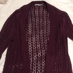 Maroon cardigan urban outfitters